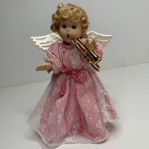 Other - Christmas Ceramic Figurine Doll Angel w/Trumpet